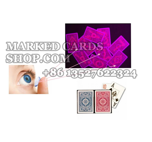 infrared contact lenses to see marked cards